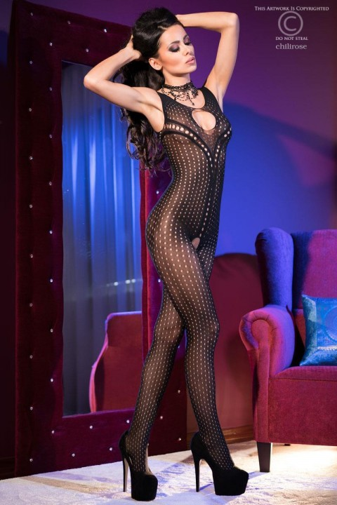 bodystocking aperto con piccole asolature