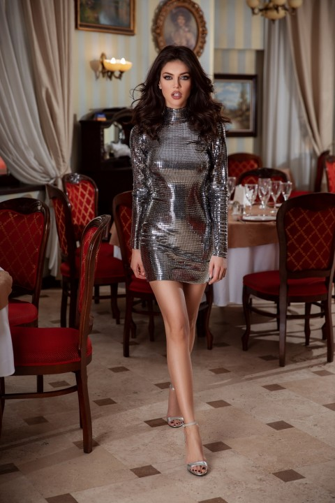 MInidress elegante color argento.