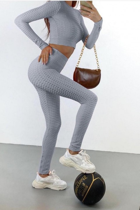 Gray fitness outfit